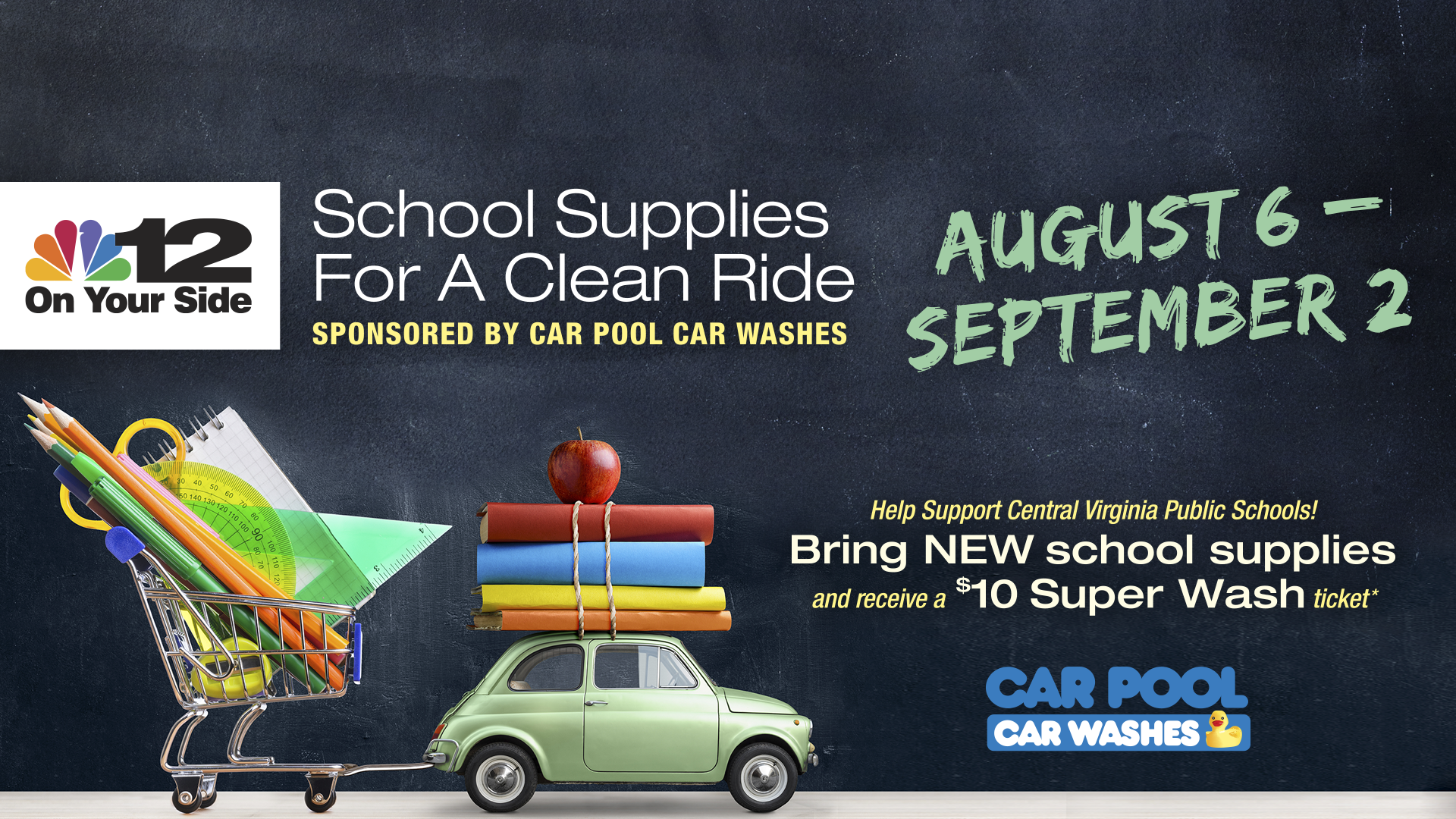 CAR POOL & NBC12 Supply Drive 2018
