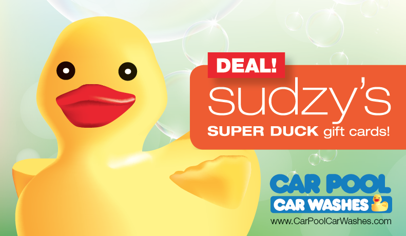 Spring Sudzy's Super Duck Gift Card Deal