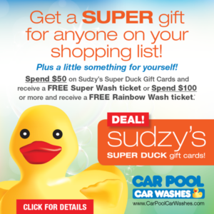 Sudzy's Super Duck Gift Cards Deal Pop Up